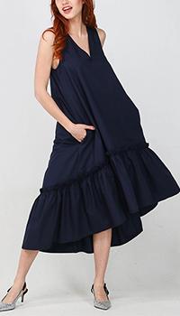 Синее платье-миди Kaos с пышной юбкой, фото