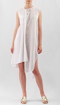 Асимметричное платье Liviana Conti белого цвета, фото
