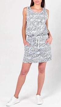Трикотажное платье Love Moschino с принтом, фото