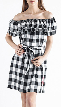 Платье Love Moschino с открытыми плечами, фото