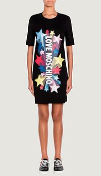 Платье Love Moschino с фирменным логотипом, фото