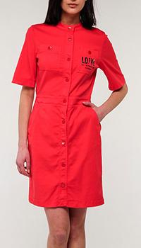 Красное платье Love Moschino на заклепках, фото