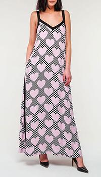 Платье Love Moschino с шахматным принтом, фото