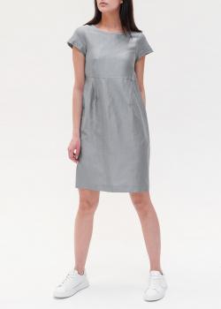 Льняное платье Max Mara Weekend серого цвета, фото