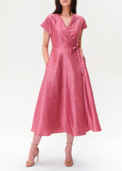 Льняное платье Max Mara Weekend на запах, фото