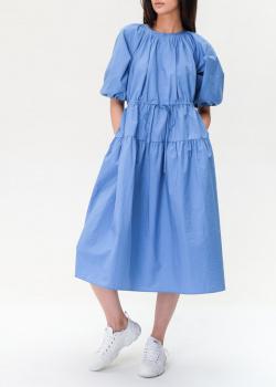 Синее платье Max Mara Weekend с кулиской на талии, фото