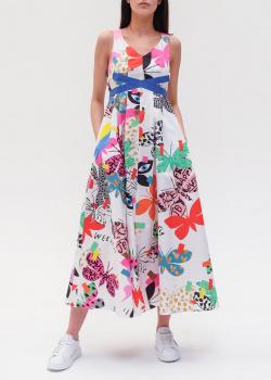 Длинное платье Max Mara Weekend с принтом-бабочками, фото
