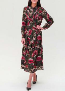 Шелковое платье Max Mara Weekend с цветочным принтом, фото