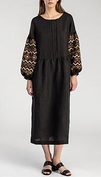 Платье с длинным рукавом  Etnodim черного цвета, фото