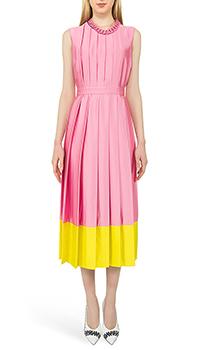 Розовое платье MSGM в складку, фото