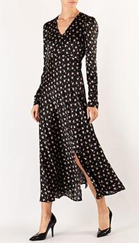 Черное платье Maje с цветочным принтом, фото