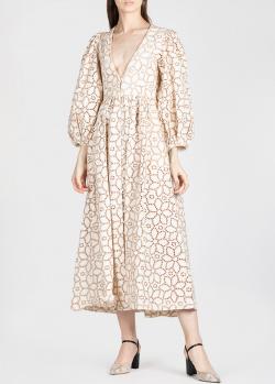 Платье-миди Mara Hoffman с перфорацией в виде цветов, фото