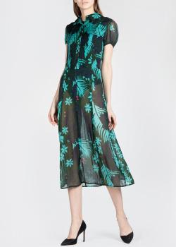 Шелковое платье Michel Klein с растительным принтом, фото