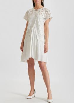 Белое платье N21 с кружевным верхом, фото