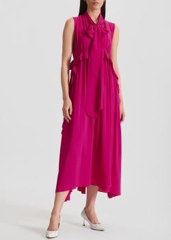 Платье с воланами N21 цвета фуксии, фото