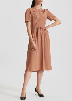 Бежевое платье N21 с коротким рукавом, фото