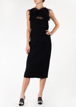 Черное платье N21 с бантом, фото