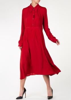 Платье-рубашка N21 красного цвета, фото