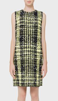 Платье N21 прямого кроя с декором-стразами, фото