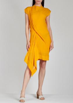 Желтое платье Nina Ricci с драпировкой, фото