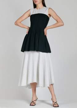 Комбинированное платье Nina Ricci в тонкую полоску, фото