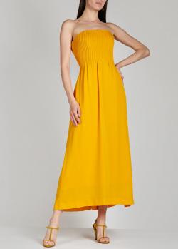 Шелковый сарафан Nina Ricci желтого цвета, фото
