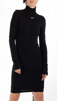 Черное платье Off-White под горло, фото