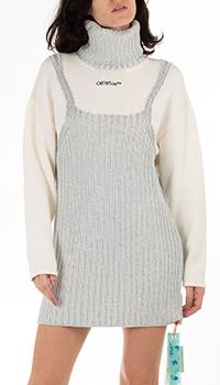 Платье Off-White с высоким воротом, фото