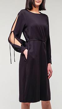 Черное платье Peserico с открытыми рукавами , фото