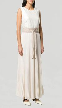 Молочное платье Peserico с плиссированой юбкой, фото
