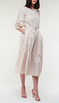 Бежевое платье Peserico с поясом, фото