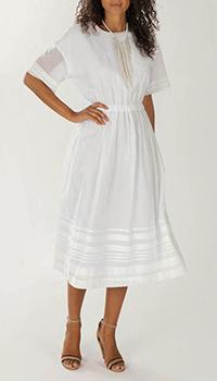 Белое платье Peserico с полосками, фото