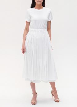 Белое платье Peserico с плиссированной юбкой, фото