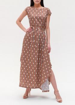 Длинное платье Peserico с принтом в полоску, фото