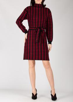 Трикотажное платье Silvian Heach черного и красного цвета, фото