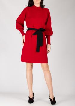 Красное трикотажное платье Silvian Heach с поясом, фото