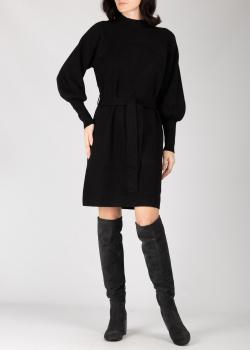 Черное трикотажное платье Silvian Heach с пышными рукавами, фото