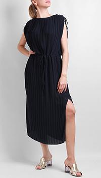 Плиссированное платье Silvian Heach синего цвета, фото