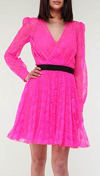 Розовое платье Philipp Plein с пышной юбкой, фото