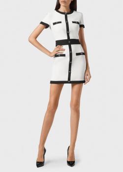 Платье-футляр Philipp Plein белого цвета, фото