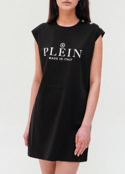 Платье-футболка Philipp Plein черного цвета, фото