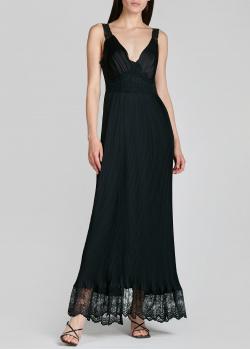Шелковое платье Paco Rabanne с кружевной отделкой, фото