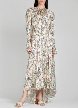 Шелковое платье Paco Rabanne с длинным рукавом, фото