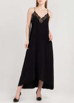 Шелковое платье-слип Zadig & Voltaire в черном цвете, фото