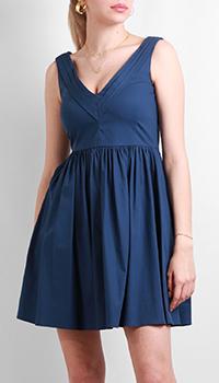 Синее платье Red Valentino с пышной юбкой, фото