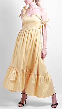 Желтое платье Max&Moi на завязках, фото
