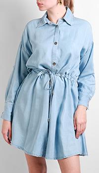 Платье-рубашка Max&Moi голубого цвета, фото