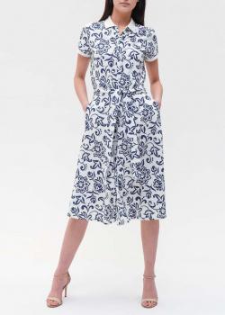 Белое платье-рубашка Polo Ralph Lauren с цветочным принтом, фото