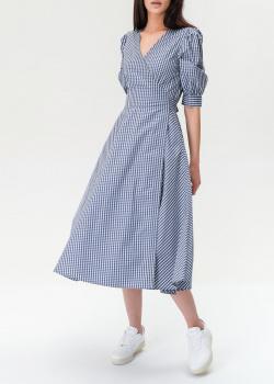 Платье на запах Polo Ralph Lauren в мелкую клетку, фото