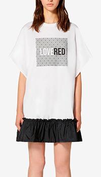 Платье-футболка Red Valentino с надписью, фото